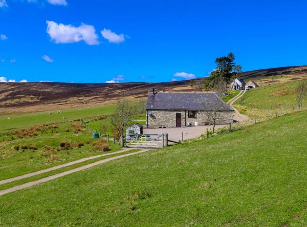 Glenlivet Cottage doorway is the first seen